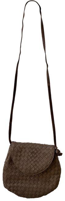 Item - Amazing Vintage Taupe/Brown Lambskin Leather Cross Body Bag