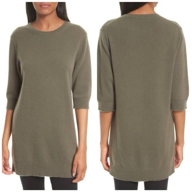 Item - Elbow Sleeve Olive Cashmere Tunic Size Small Green Sweater