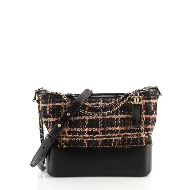 Item - Gabrielle Quilted and Calfskin Medium Multicolor Leather Tweed Hobo Bag