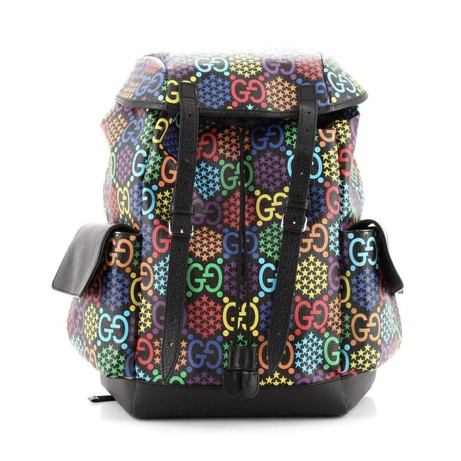 Gucci Double Pocket Belt Psychedelic Print Gg Coated Medium Multicolor Canvas Backpack Gucci Double Pocket Belt Psychedelic Print Gg Coated Medium Multicolor Canvas Backpack Image 1