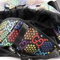 Gucci Double Pocket Belt Psychedelic Print Gg Coated Medium Multicolor Canvas Backpack Gucci Double Pocket Belt Psychedelic Print Gg Coated Medium Multicolor Canvas Backpack Image 7