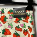 Gucci Red Cream Medium Wash Strawberry Print Washed Ivory Skinny Jeans Size 28 (4, S) Gucci Red Cream Medium Wash Strawberry Print Washed Ivory Skinny Jeans Size 28 (4, S) Image 2