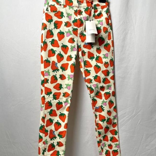 Gucci Red Cream Medium Wash Strawberry Print Washed Ivory Skinny Jeans Size 28 (4, S) Gucci Red Cream Medium Wash Strawberry Print Washed Ivory Skinny Jeans Size 28 (4, S) Image 7