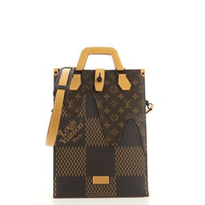 Item - Nigo Limited Edition Giant Damier and Monogram Mini Brown Coated Canvas Tote