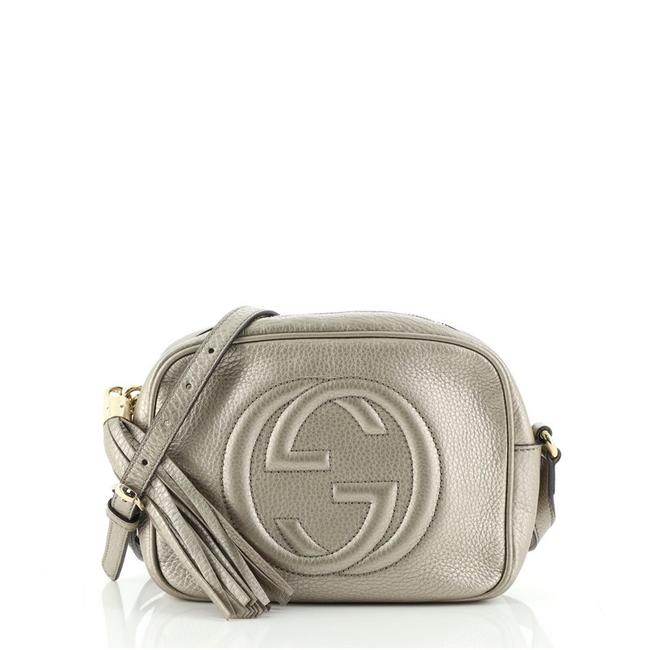 Item - Soho Disco Small Metallic Neutral Leather Cross Body Bag