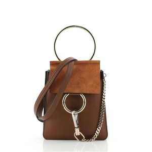 Item - Faye Bracelet Mini Brown Leather and Suede Cross Body Bag