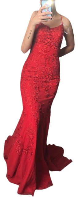Item - Red Sh-52338 Long Formal Dress Size 2 (XS)