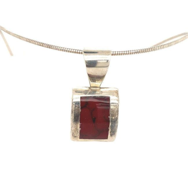 Item - Red 925 Mexican Stone Necklace