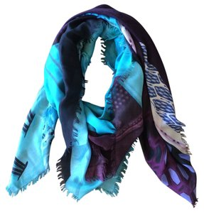 MARY KATRANTZOU Mary Katrantzou Blue and Purple Shawl