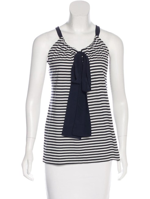 Item - Navy/White Stripe Silk Halter Top Size 8 (M)