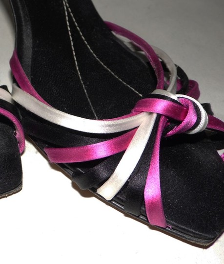 Kate Spade Lolita Strappy Heels Peep-toe Peep Toe White Violet Pink Purple Satin Leather Black Fuchsia Ivory Formal