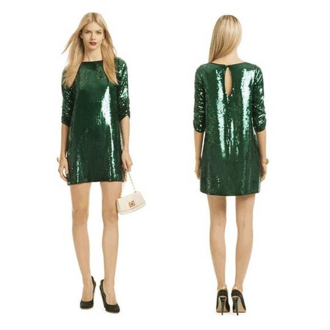 Item - Green Emerald Sequin Shift Cocktail Dress Size 2 (XS)