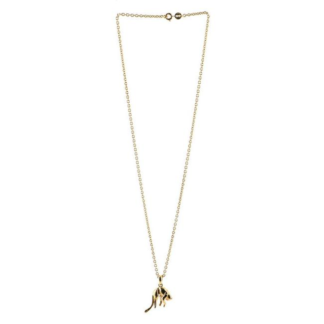 Item - Vintage Panther Pendant 18k Yellow Gold Necklace