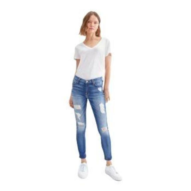 Item - Blue Distressed Ankle Destroyed Skinny Jeans Size 25 (2, XS)