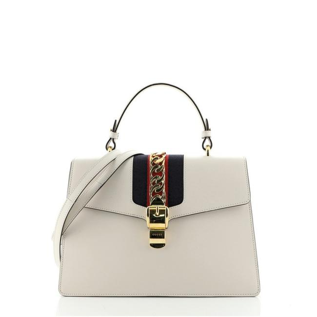 Item - Sylvie Top Handle Medium Neutral Leather Cross Body Bag