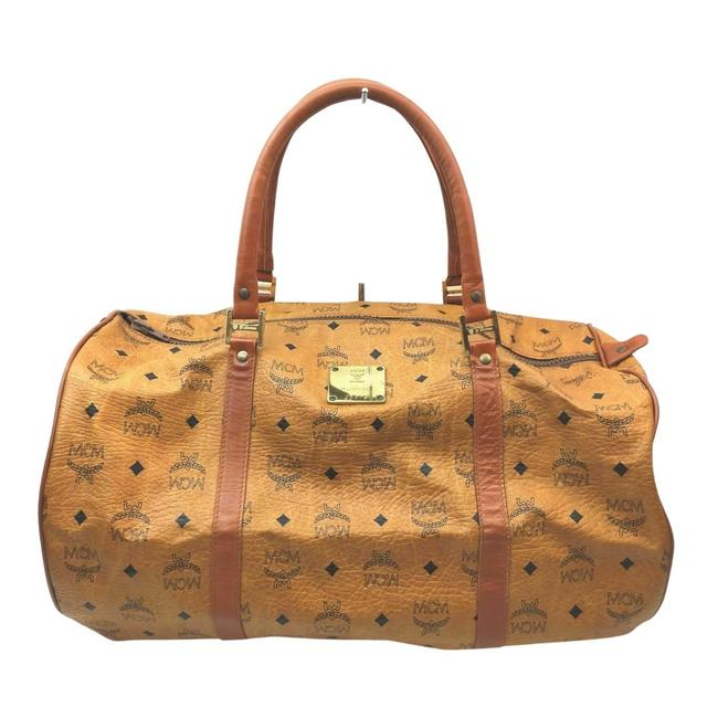 Item - Coated Canvas #n6830m33 Brown Weekend/Travel Bag