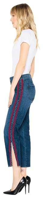 Item - Stella Side-stripe Cropped High Waisted Straight Leg Jeans Size 0 (XS, 25)