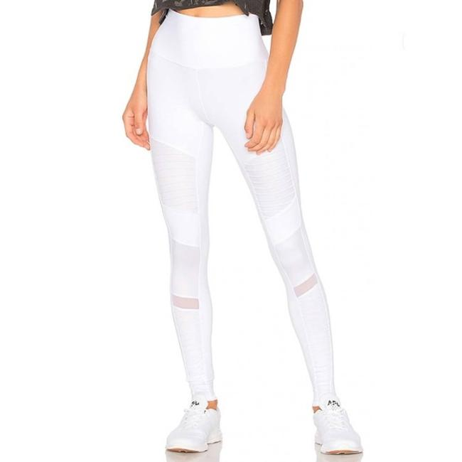 Item - White High Waist Moto In Activewear Bottoms Size 0 (XS, 25)