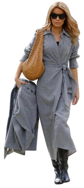 Item - Grey Limited Edition Knotted Mid-length Work/Office Dress Size 8 (M)