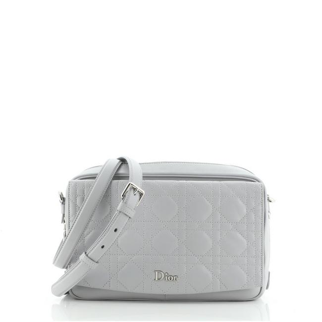 Item - Camera Stardust Cannage Quilt Lambskin Small Gray Leather Cross Body Bag