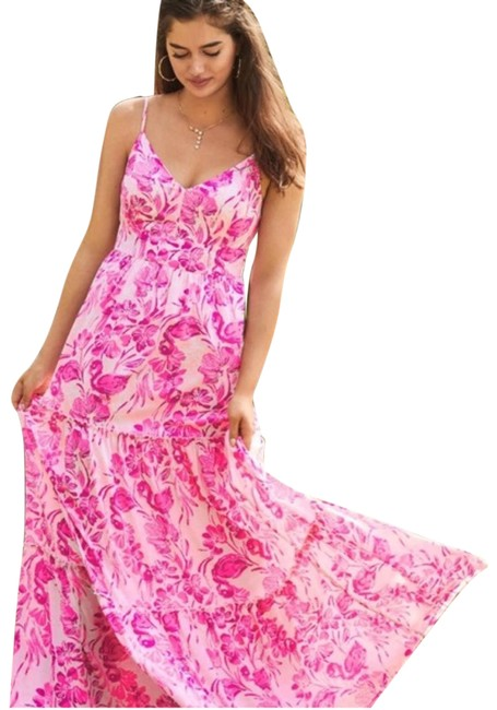 Item - Pink Melody Floral Long Casual Maxi Dress Size 00 (XXS)