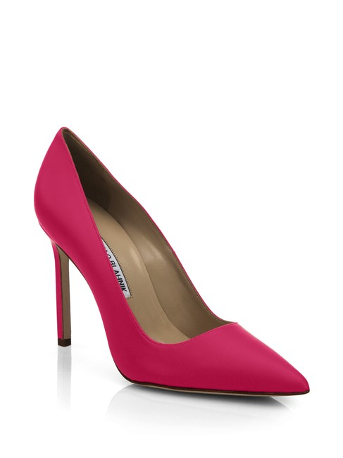 Item - Pink New Bb Neon Nappa Leather Pointed Pumps Size EU 38.5 (Approx. US 8.5) Regular (M, B)