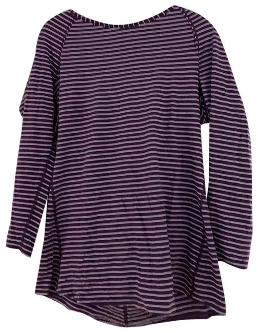 Item - Purple and White Striped Activewear Top Size 12 (L)