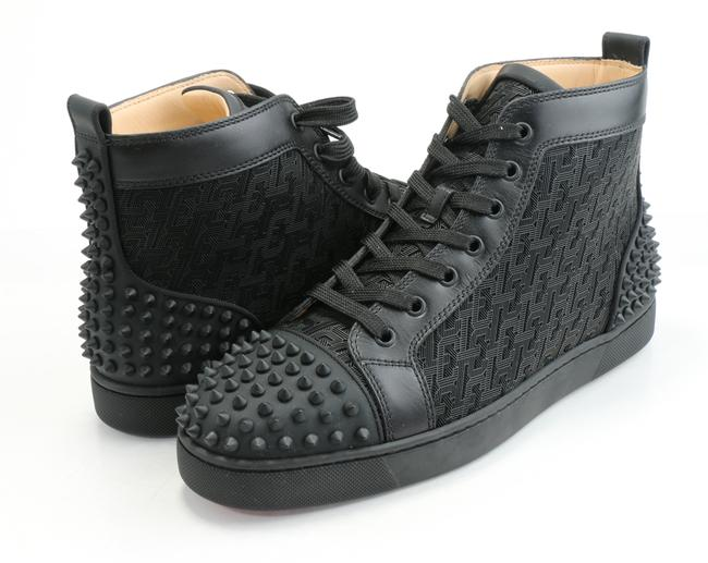 Item - Black Lou Spikes 2 Flat Shoes