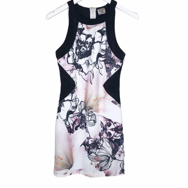 Item - Pink Floral Sleeveless Sheath Short Casual Dress Size 6 (S)