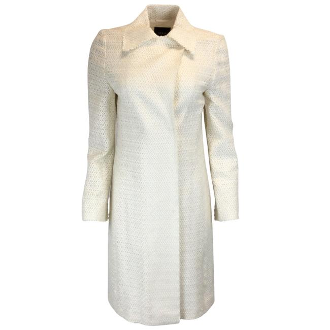 Item - Ivory Textured Double Breasted Coat Size 4 (S)