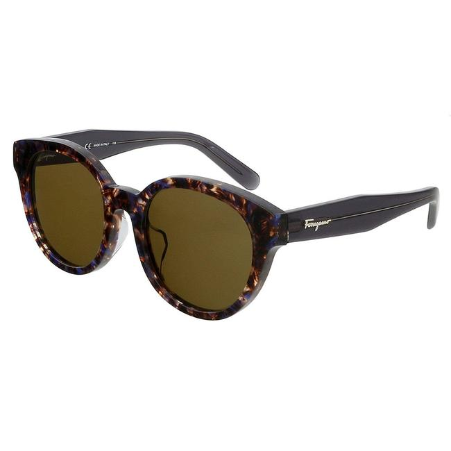 Item - Violet Havana Square Sunglasses