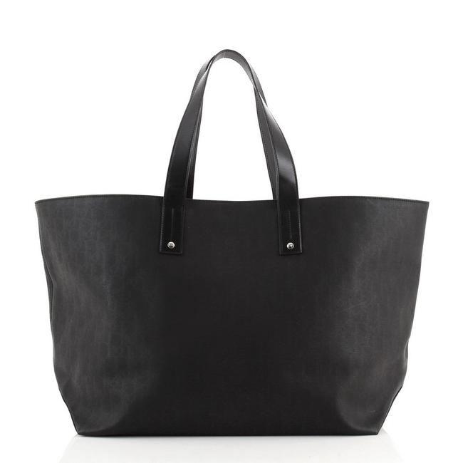 Item - Open Darklight Coated Large Black Canvas Tote