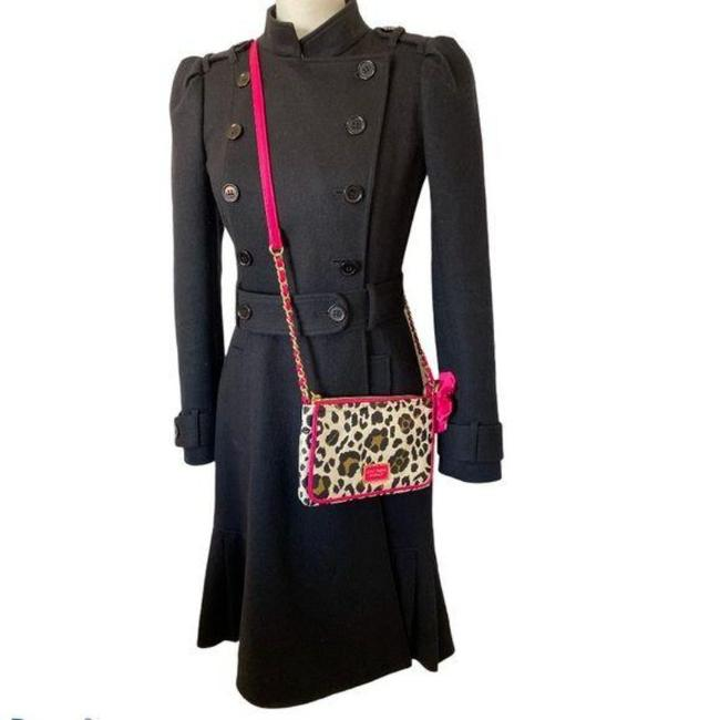 Item - Black Pink 2 Piece Set Wool + Purse Coat Size 4 (S)
