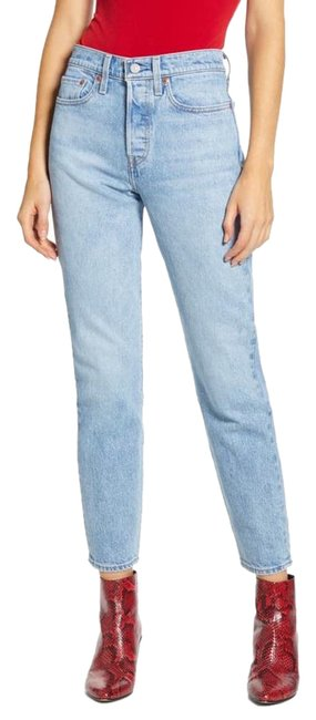 Item - Blue Light Wash Wedgie Icon Fit High Rise Ankle Straight Leg Jeans Size 32 (8, M)