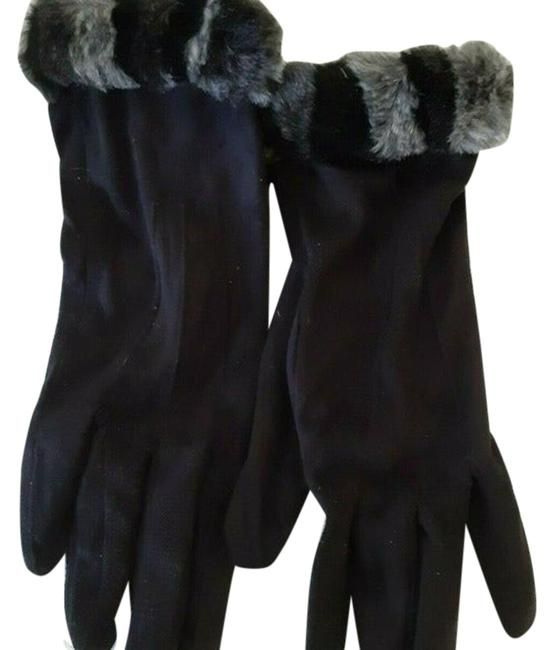 Item - Black/ Gray XS Womens Faux Fur Gloves Winter Warm Gloves Very Soft Material Size B