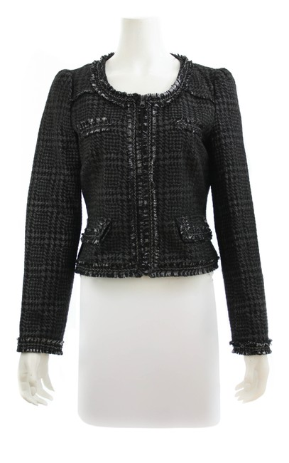 Item - Grey and Black Basic Charcoal Tweed Large Jacket Size 12 (L)