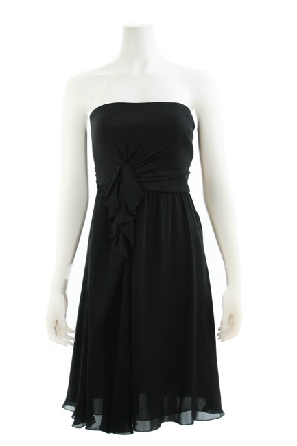 Item - Black Collezioni Silk Mid-length Formal Dress Size 6 (S)