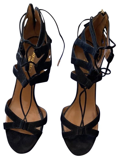 Item - Black Strappy Formal Shoes Size EU 38 (Approx. US 8) Regular (M, B)