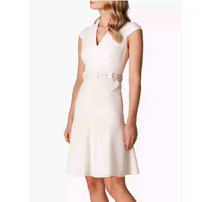 Item - Ivory Mid-length Work/Office Dress Size 8 (M)