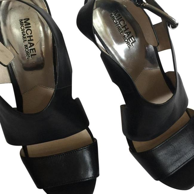 Item - Black Leather Platforms Size US 7.5 Regular (M, B)