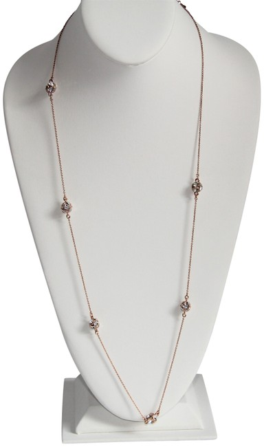 """Item - Rose Gold Chain Crystal Station """"Lady Marmalade Necklace"""
