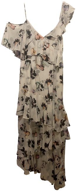 Item - White/Floral Ml By Long Casual Maxi Dress Size 12 (L)