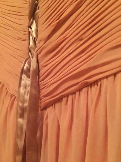 Dusty Rose Polyester Floor Length Strapless Corset Tie Back #1421 Formal Bridesmaid/Mob Dress Size 0 (XS) Image 7