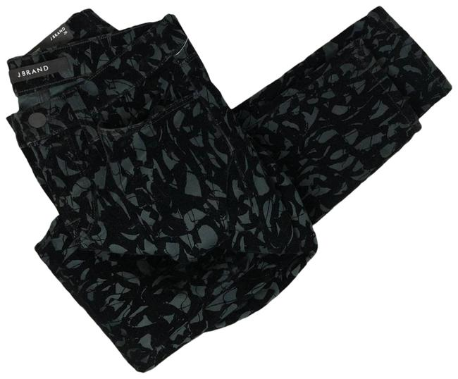 Item - Green Velvet Brocade Olive Black Super 26 Pants Size 2 (XS, 26)