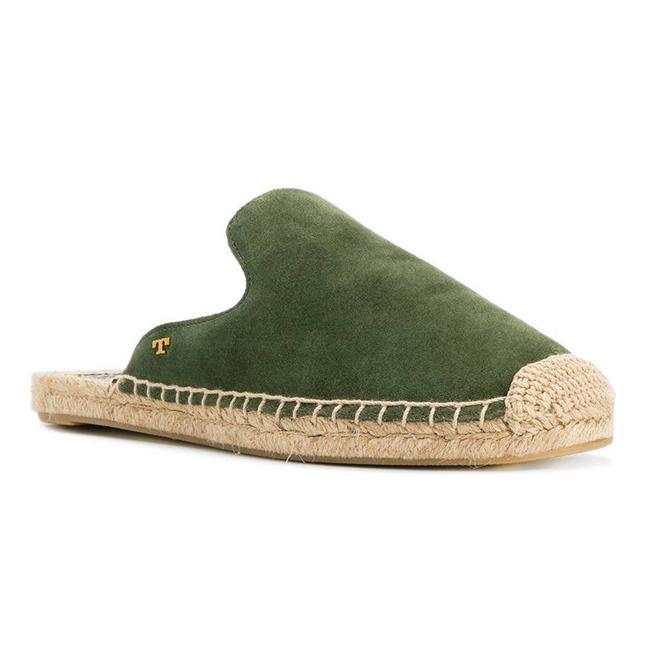 Item - Green New 11m Max Espadrille Mule Slide Olive Suede Slip On Flats Size US 11 Regular (M, B)