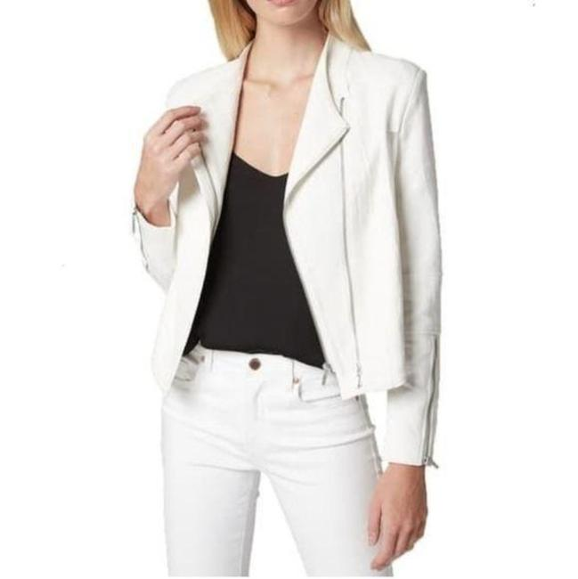Item - White Crepe Moto Jacket Size 12 (L)
