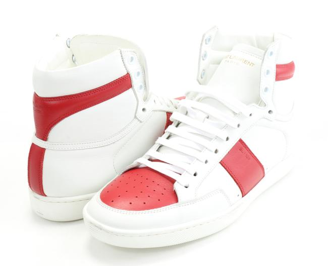 Item - White/Red Signature Court Classic High Top Sneakers Size EU 40 (Approx. US 10) Regular (M, B)