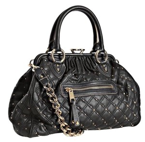 Marc Jacobs Satchel in Black with gold studs