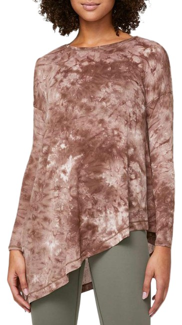 Item - Brown To The Point Activewear Top Size 4 (S)