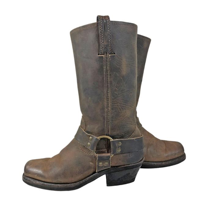 Item - Brown 77300 Harness Leather Motorcycle 12r Women's Boots/Booties Size US 6.5 Regular (M, B)